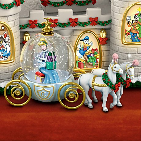 Disney's Christmas At The Castle Miniature Snowglobe Collection with Lights and Music - detail 1