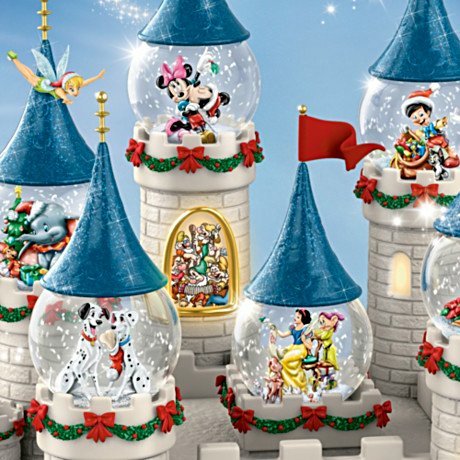 Disney's Christmas At The Castle Miniature Snowglobe Collection with Lights and Music - detail 3