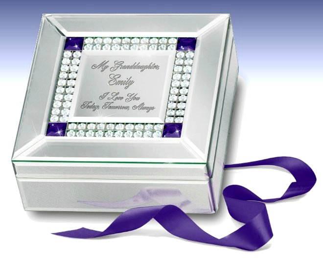 Granddaughter, I Love You - Personalized Music Box
