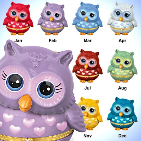 Music Box: Granddaughter, Owl Always Love You - Birthstone Music Box