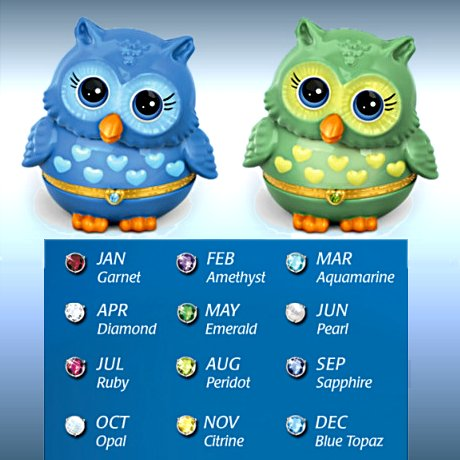 Granddaughter, Owl Always Love You Music Box - the colors