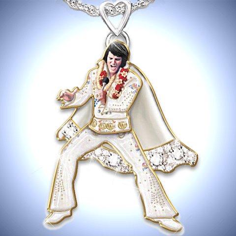 Hip Shakin' Elvis Signature Dance Moves Pendant Necklace