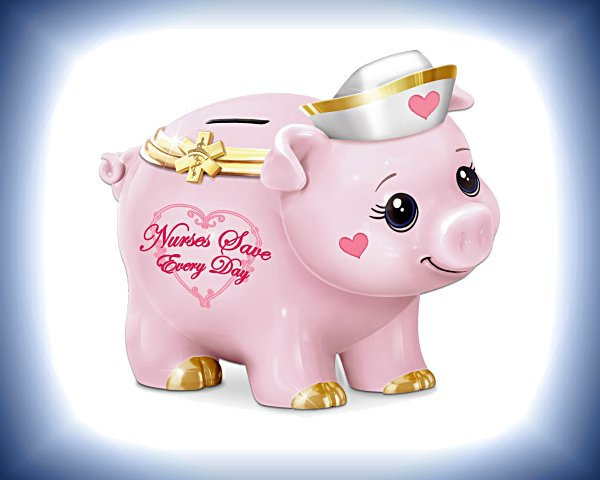 Nurses Save Every Day - Musical Piggy Bank
