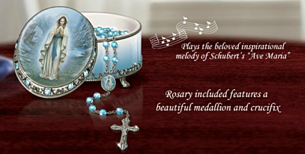 Our Lady Of Lourdes Musical Rosary Box