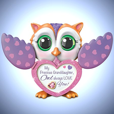 Owl Always Love You Music Box with Spread Wings