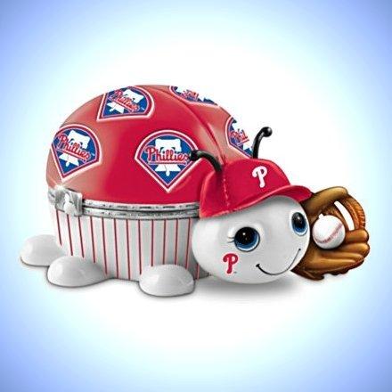 MLB Philadelphia Phillies Love Bug Heirloom Porcelain Music Box