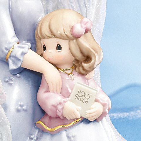Precious Moments My Blessed Daughter Porcelain Figurine: Mother-Daughter Musical Gift - detail