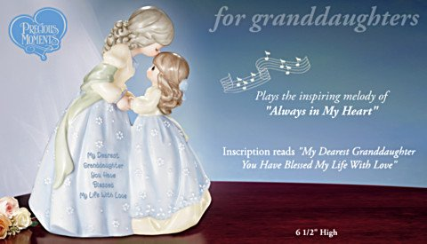 Precious Moments Collectible My Dearest Granddaughter Musical Figurine Gift - info