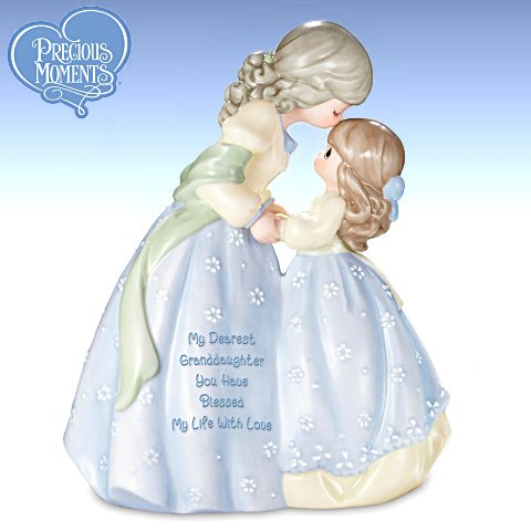 Precious Moments Collectible My Dearest Granddaughter Musical Figurine Gift