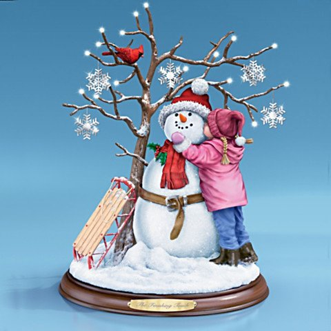 Richard MacNeil The Finishing Touch Holiday Illuminated Tabletop Sculpture