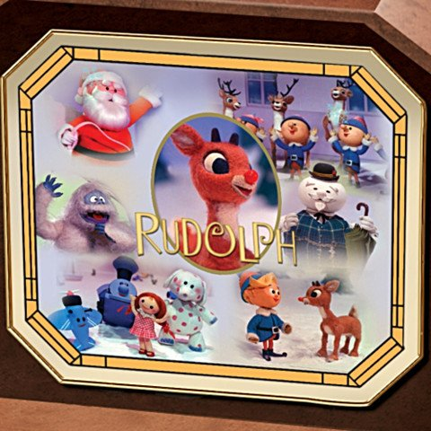Rudolph The Red-Nosed Reindeer Music Box - Lid
