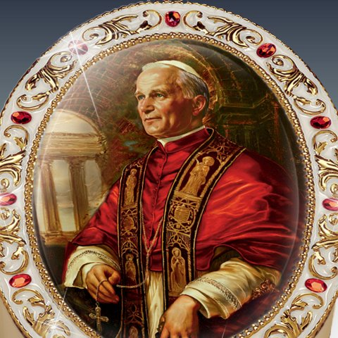Saint John Paul II Commemorative Edition Music Box - detail
