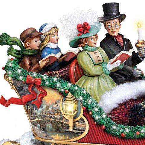 Thomas Kinkade Holiday Harmony Musical Sculpture - detail