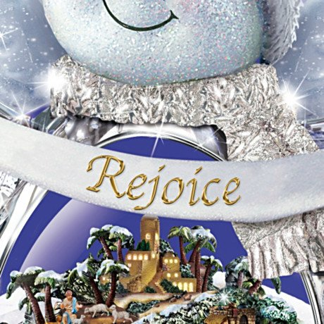 Thomas Kinkade Sn'O Holy Night Crystal Snow Angel Sculpture With Light, Music And Motion