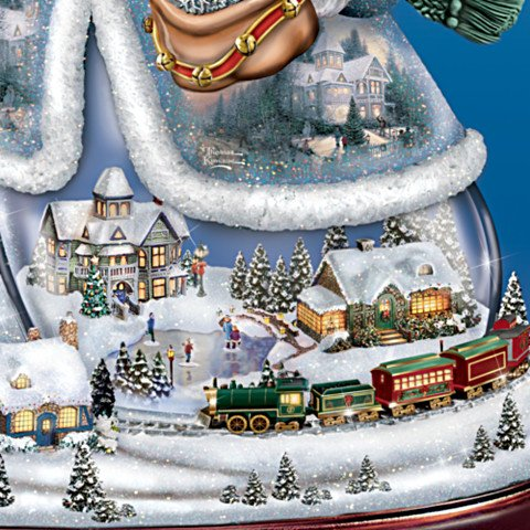 Thomas Kinkade Snowman Tabletop Centerpiece: Let It Snow - detail