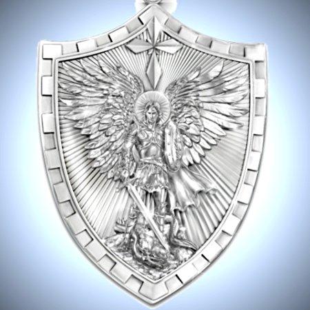 Triumph Of St. Michael Pendant Necklace for Grandson