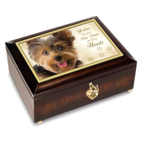 Yorkies Leave Paw Prints On Our Hearts - Music Box