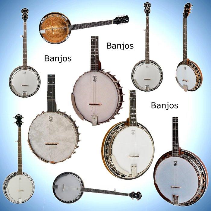 Banjos, also Guitars