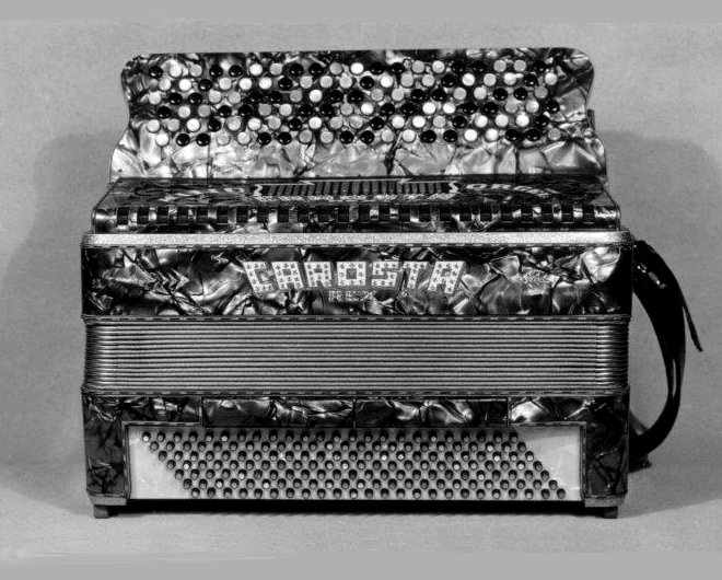 Historical CAROSTA Rex Accordion with 168 bass buttons