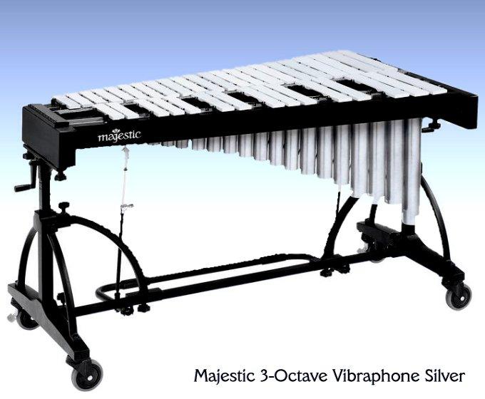 Majestic 3-Octave Vibraphone Silver
