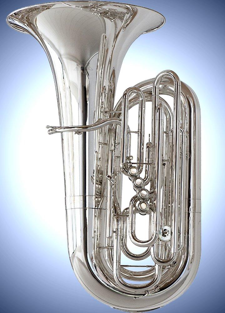 Miraphone 1293 Series 5-Valve 5/4 Cc Tuba 1293-5Vcs Silver