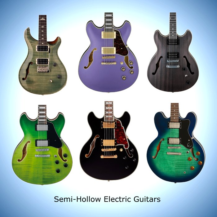 Semi-Hollow Electric Guitars