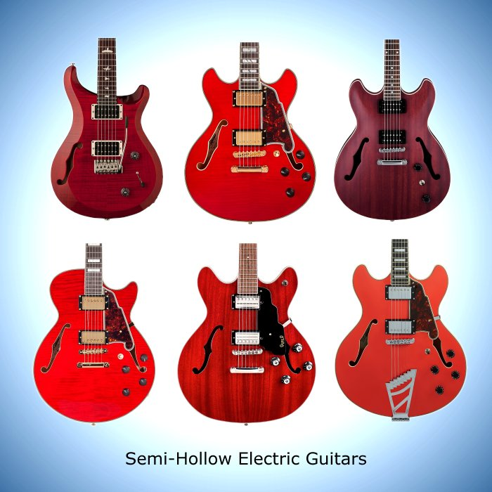 Semi-Hollow Electric Guitars